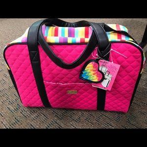 Betsey Johnson Rainbow Overnite Bag! New! Fab!